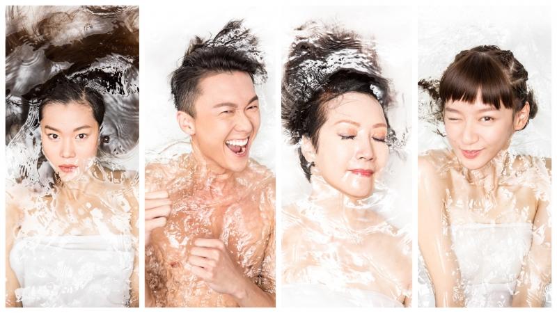 王浩信、Angela Yuen、謝雪心、歐鎧淳水著look曬冷
