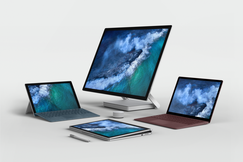 數碼畫布  Microsoft Surface family