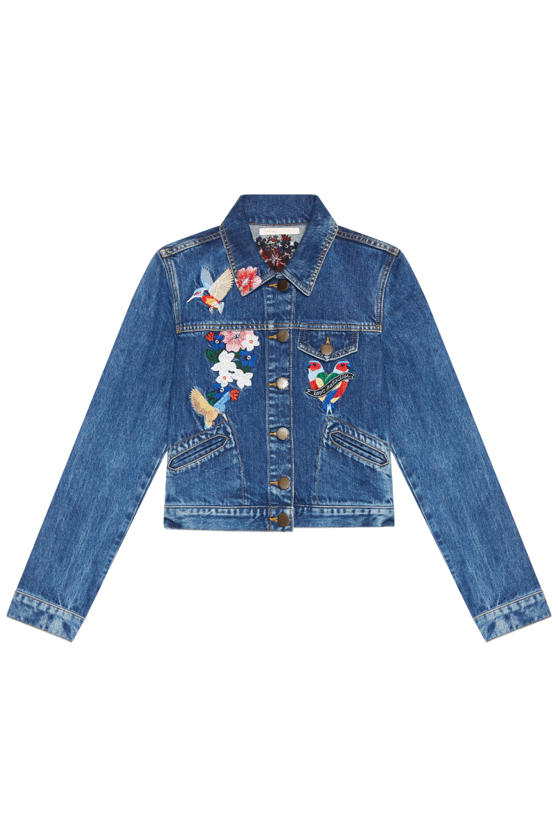 Maje Embroidered Denim Jacket 2 590