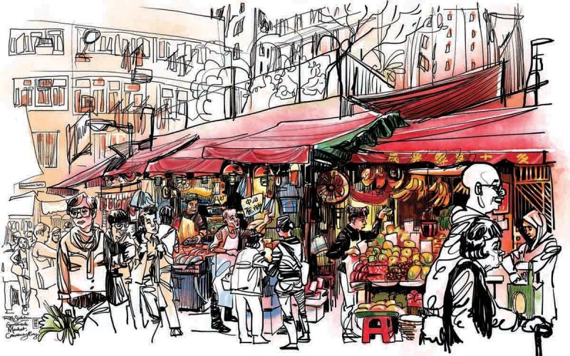 帶著iPad遊香港!都市畫家作品進駐Cordis