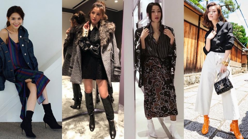 潮跟Sammi、千嬅、阿Sa搭配不同長度的靴款,打造獨特時尚造型!