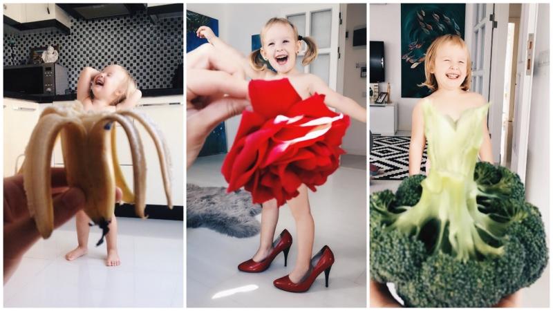 俄羅斯媽媽iger有創意!幫b女設計蔬果花草裙吸like