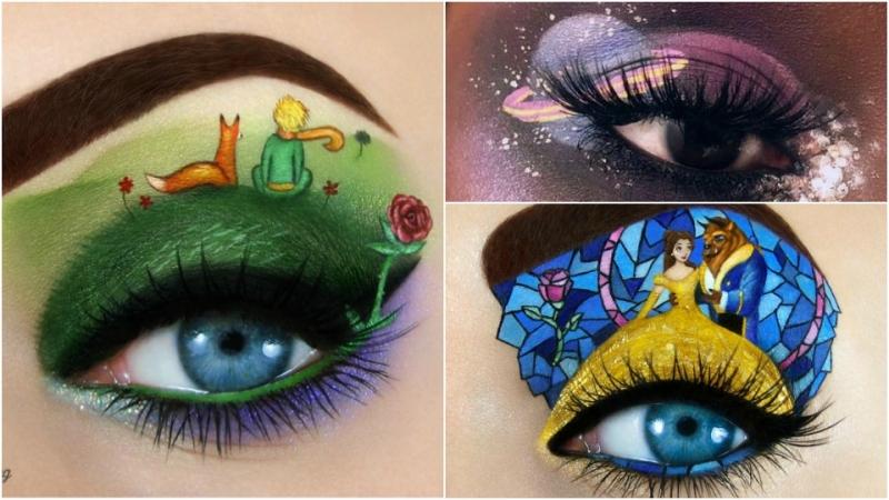 藉著眼影說故事!網絡大熱眼皮藝術你睇過未?