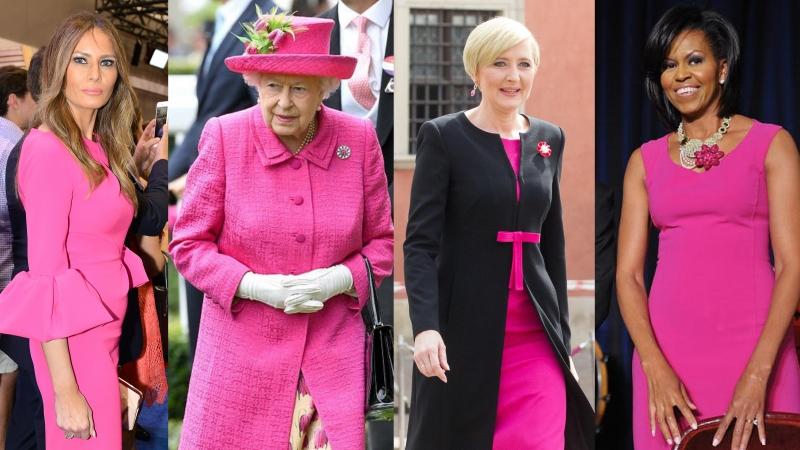 第一夫人齊撐Shocking Pink