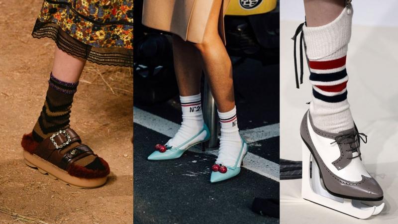識著 梗係著鞋襯對小短襪